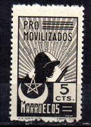 Viñeta  Nº 1 Pro Movilizados Marruecos. - Verschlussmarken Bürgerkrieg