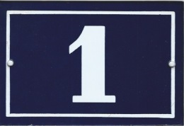 Plaque émaillée Rue 1 - Reclameplaten