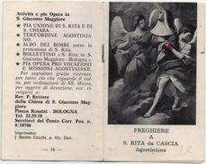 Librettino Di 16 Facciate Con Preghiere A Santa Rita Da Cascia (Perugia) Agostiniana - Santini