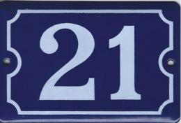 Plaque émaillée Rue 21 - Plaques Publicitaires