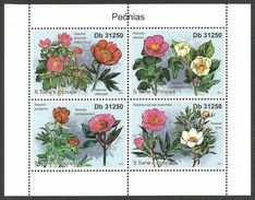 ST THOMAS AND PRINCE 2011 FLOWERS PEONIES  M/SHEET MNH - Sao Tome And Principe