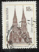 ARGENTINA 1970 1973 Lujan Basilica 18p USATO USED OBLITERE' - Argentina
