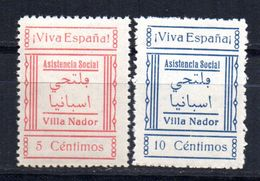 Viñetas Nº 1/2 Asistencia Social Villa Nador. - Vignettes De La Guerre Civile