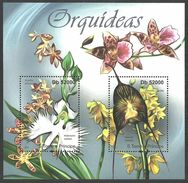 ST THOMAS AND PRINCE 2011 FLOWERS ORCHIDS M/SHEET MNH - Sao Tome And Principe