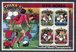 North Korea 1981: Football WC 1982 Sheetlet MNH Michel 2094-2097 - Fußball-Weltmeisterschaft
