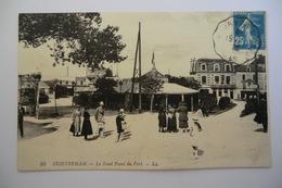 CPA 14 CALVADOS OUISTREHAM. Le Rond Point Du Port. 1922. - Ouistreham