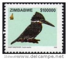 Zimbabwe - 2005 Birds $100000 Kingfisher (**) # SG 1155 - Oiseaux
