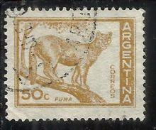 ARGENTINA 1959 1970 1960 PUMA CENT. 50c USATO USED OBLITERE' - Argentina