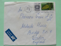 Israel 1962 Cover Tel Aviv To England - Tree Pine Cone - Zodiac Cancer Crab - Israel
