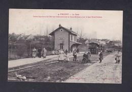 Crugny 51 La Gare - Station Importante Du C.B.R. Sur L'embranchement Fismes Bouleuse Et Ligne Reims Dormans Convoyeur - Other Municipalities