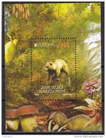 Macedonia 2016 Europa CEPT, Think GREN, Bear, Bird, Fauna, Mushrooms, Block, Souvenir Sheet MNH - Europa-CEPT