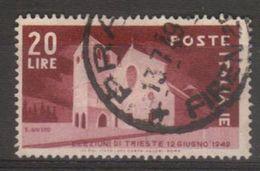 1949 - Elezioni Amministrative A Trieste - Sassone N.606 - 1946-60: Used