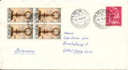 Vatican Cover Sent To Switzerland 21-7-1969 - Vatican