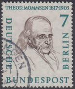 !b!  BERLIN 1957 Mi. 163 USED SINGLE (k) - Men From Berlin History: Theodor Mommsen - [5] Berlin