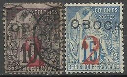 Obock - Type Alphée Dubois Surchargé - N° 22 & 23 Oblitéré & Neuf Avec Charnière. - Obock (1892-1899)