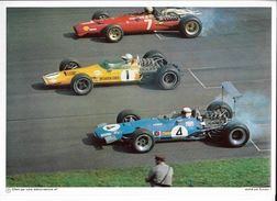 24 Fiches Illustrées Collection ELF - Grand Format 2&X30cm - Voiture Course F1 - Automobile - F1