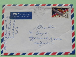 USA 1985 Cover Santa Ana To Switzerland - Olympic Games Gymnastics - Lettres & Documents