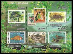 ST THOMAS AND PRINCE 2010 WWF BIRDS BUTTERFLIES WILDLIFE STAMP ON STAMP MNH - Sao Tome And Principe