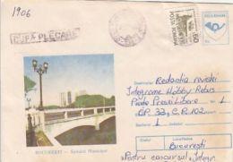 64214- BUCHAREST MUNICIPAL HOSPITAL, BRIDGE, MEDICINE, COVER STATIONERY, 1994, ROMANIA - Medicina