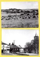 Louette - Saint -Pierre (Gedinne). Lot De 2 Cartes. Panorama. La Grand'Place Avec L'église St.Pierre - Gedinne
