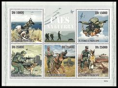 ST THOMAS AND PRINCE 2009 MILITARY PARACHUTES PARATROOPERS DOGS MNH - Sao Tome And Principe