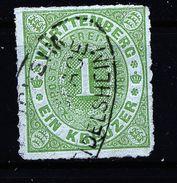 A4783) AD Postablage Pleidelsheim Auf 1 Kreuzer Grün Gepr. BPP - Wurttemberg