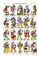 Affiche D'Epinal Numérotée Et Certificat - L'Illustre Famille Des Jean - Pellerin & Cie - Imagerie D'épinal N° 1337 - Affiches