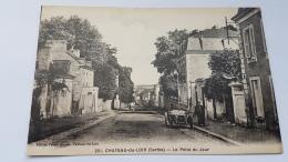 CHATEAU DU LOIR 72 Point Du Jour 251 Rue Centrale Voiture Villageois CPA Postcard Animee - Chateau Du Loir