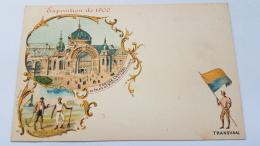 EXPOSITION 1900 TRANSVAAL Porche Central Palais Mines Metallurgie CPA Postcard Animee - Geschiedenis