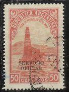 ARGENTINA 1938 1954 OFFICIAL STAMPS SERVICIO OFICIAL CENT. 50c USATO USED OBLITERE' - Servizio