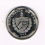 )  CUBA  10 CENTAVOS  1999 - Cuba