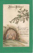 Image Pieuse Holy Card Santini Illustration Nativité Allons à BETHLEEM - Devotion Images