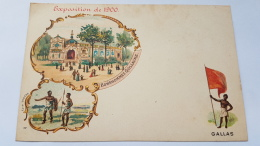 EXPOSITION 1900 GALLAS Bonshommes Guillaume CPA Postcard Animee - Geschiedenis