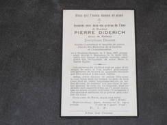 MESSANCE, 19/8/1926, Décès De Pierre DIDERICH époux Joséphine DOURET, Ancien Combattant, Invalide De Guerre, ... - Décès