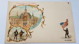 EXPOSITION 1900 ALASKA Porche Central Palais Education CPA Postcard Animee - Geschiedenis