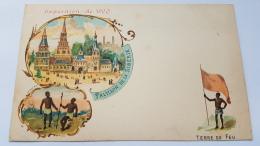 EXPOSITION 1900 TERRE FEU Pavillon Siberie CPA Postcard Animee - Geschiedenis