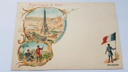EXPOSITION 1900 MALGACHE Tour Eiffel Environs Paris CPA Postcard Animee - Geschiedenis