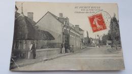 CHATEAU DU LOIR 72 Bar Restaurant Au Pichet Rouge Rue Pont Niveau CPA Postcard Animee - Chateau Du Loir