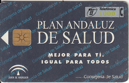 SPAIN - Plan Andaluz De Salud(1000 Pta), 09/98, Used - Spain