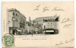 Pionnière Nuage - BAR Le DUC Place Reggio Et Rue Rousseau - Voyagé 1903 - Bar Le Duc