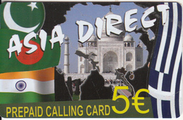 GREECE - Tajmahal, Asia Direct Prepaid Card 5 Euro, Sample - Greece