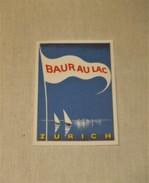 ETIQUETA HOTEL BAUR AU LAC ZURICH  Hotel Baur Au Lac Zurich Tag For Luggage - Hotel Labels