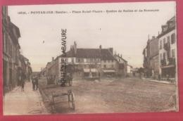 25 - PONTARLIER---Place Saint Pierre-Routes De Salins Et De Besançon---attelages--animé - Pontarlier