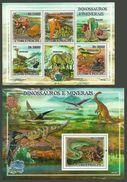 ST THOMAS AND PRINCE 2009 DINOSAURS PREHISTORIC ANIMALS MINERALS SHEETS MNH - Sao Tome And Principe