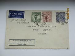1935 AUSTRALIA SYDNEY COMMONWEALTH BANK COVER TO ESTONIA  ,0 - 1913-36 George V: Sonstige Abb.