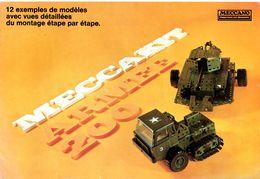 Meccano. Catalogue 11 Pages, Meccakit Armée, 12 Ex De Modèles + Nomenclature Des Pièces Meccakit Et Contenu Des Boites. - Other Collections