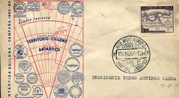 ANTARTIDA CHILENA - CAMPAÑA 1962-63 PRESIDENTE PEDRO AGUIRRE CERDA SOBRE CHILE  ZTU. - Chile