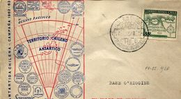 ANTARTIDA CHILENA - CAMPAÑA 1962-63 EXPEDICION DE JUAN LADRILLERO BASE O HUGGUINS  SOBRE CHILE  ZTU. - Chili