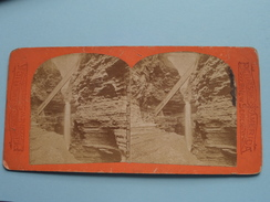 CAVERN CASCADE And LONG STAIRS, Watkins Glen ( N° 6 ) Wood's Bazaar SYRACUSE ( Voir Photo Pour Detail ) Stereo Photo ! - Photos Stéréoscopiques
