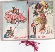 "CALENDARIETTO ""RITMI E MELODIE""1950-4 SCANNER BALLI  TANGO BOOGIE VOOGIE BOLERO SPIRU...-2-082-27463-64-65-66 - Small : 1941-60"